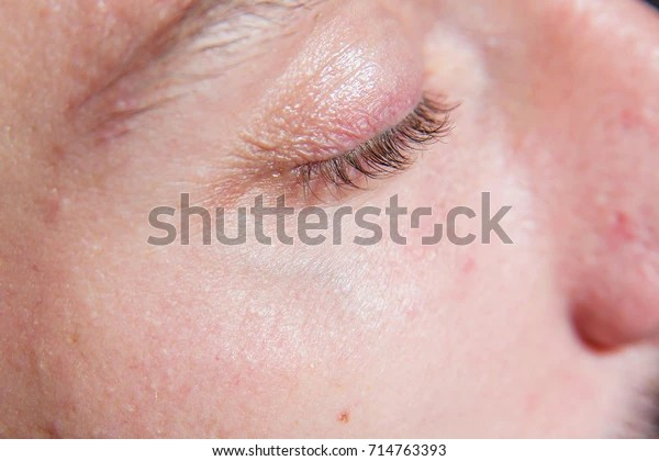 mens eyelashes stock photo