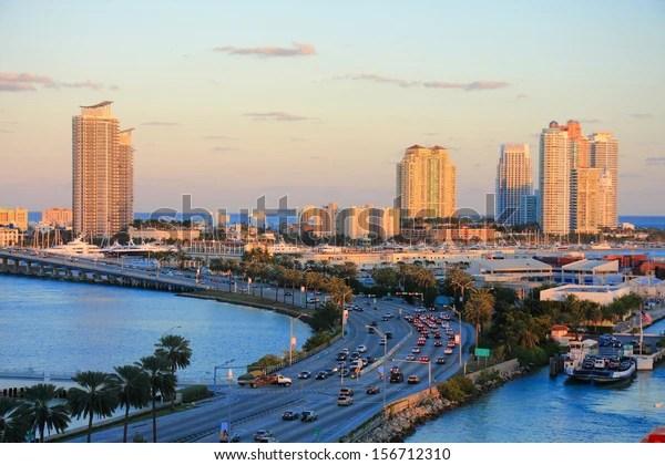 Miami City Scape Day Time Florida Stock Photo (Edit Now ...