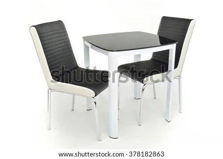 gray kitchen chairs play kitchens for sale modern black grey table two stock photo edit now 378182863 and with pairing isolated on white background
