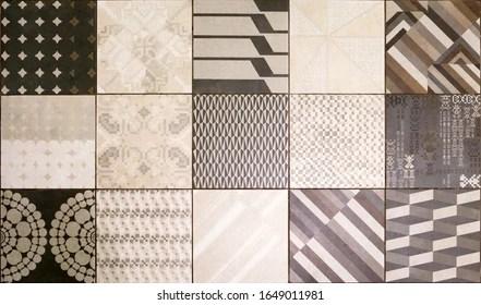 https www shutterstock com image photo modern ceramic tiles pattern brown beige 1649011981