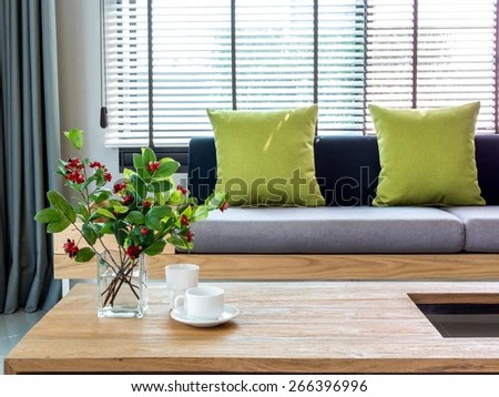 living room flower vases modern curtains for uk interior vase stock photo edit now of with and sofa background