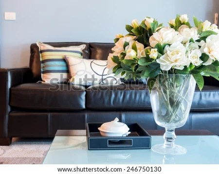 living room flower vases wall paint colors modern interior design artificial stock photo edit now with vase