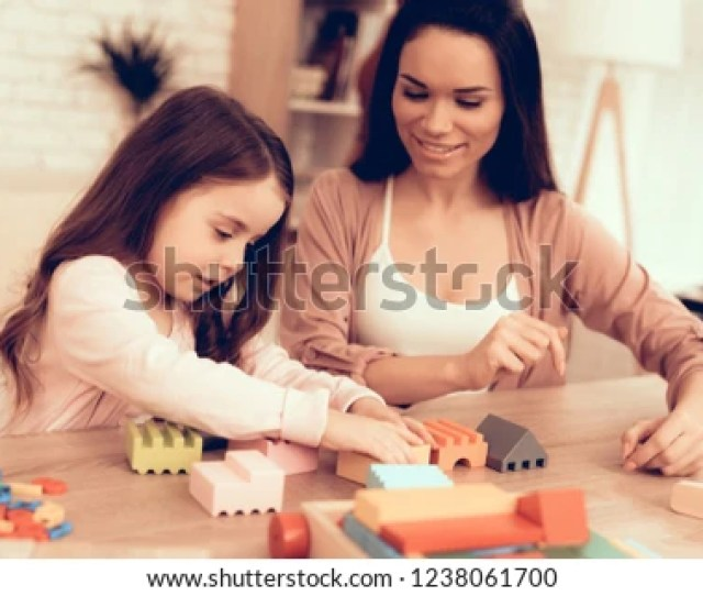 Mom Teaches Daughter Educational Games Learning Child At Home Cost House Of Cubes