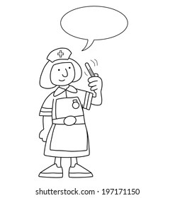 Nurse Drawing Stock Images, Royalty-Free Images & Vectors