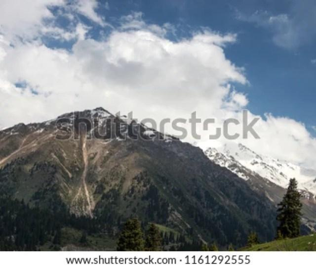 Mountains Kazakhstan Alma Ata Almaty Medeo Mountains Summer View Of The Mountain