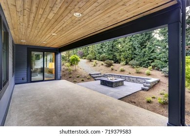 https www shutterstock com image photo new modern home features backyard covered 719379583