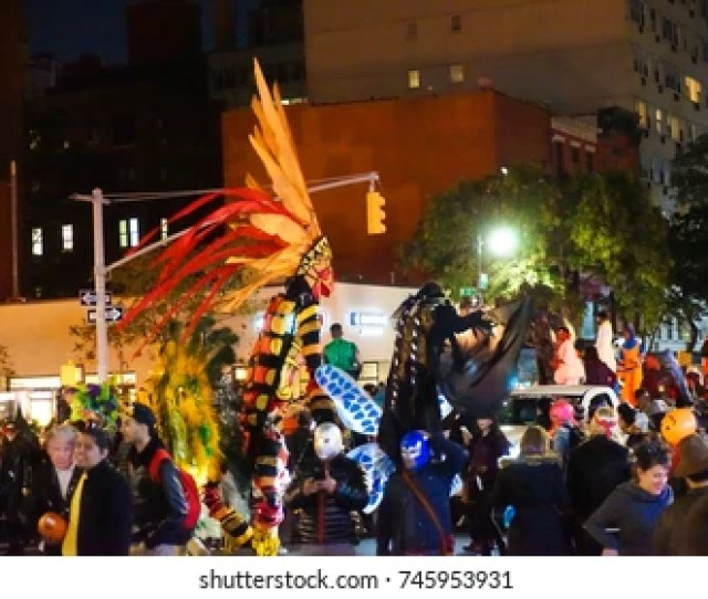New York City October  Th Annual West Village Halloween Parade Filled