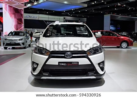 toyota yaris trd sportivo all new agya nonthaburi thailand march 28 stock photo edit now the is on display