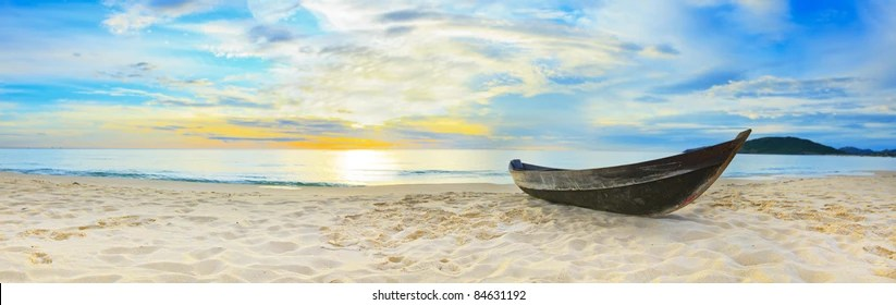 panoramic beach images stock