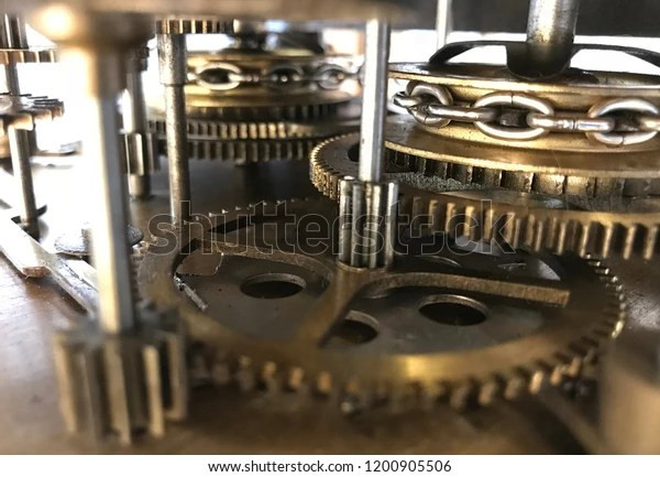 old grandfather clock workings