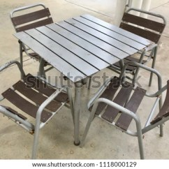 Old Metal Chairs Desk Chair Massager Table Texture Stock Photo Edit Now 1118000129 And For