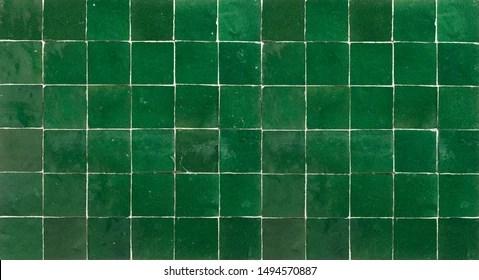https www shutterstock com image photo old retro dark green ceramic tile 1494570887