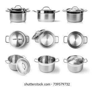 kitchen pots island chandeliers royalty free images stock photos vectors shutterstock open stainless steel cooking pot isolated on white