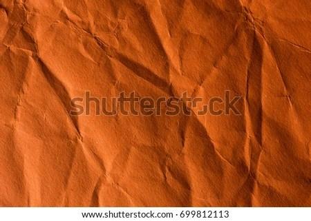 orange crinkle paper background