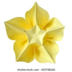 Carambola Flower Origami Diagram Air Brake Tractor Trailer Modular Sonobe Ball On White Stock Photo Edit Now Background