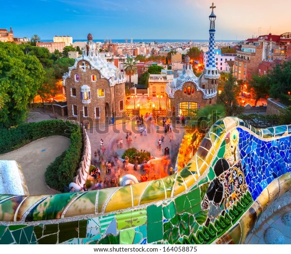Park Guell Barcelona Spain Stock Photo Edit Now 164058875