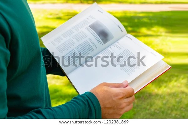 people open hardcover book