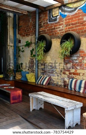 living room furniture perth australia best corner sofa for small wa november 30 stock photo edit now cafe with funny and colorful interior in a tiny street the capital of western on
