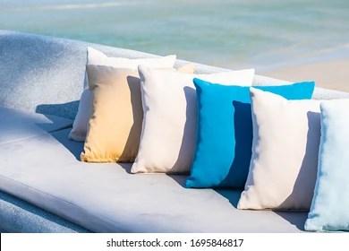 https www shutterstock com image photo pillow on chair sofa lounge around 1695846817