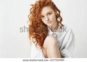 portrait cute tender ginger girl