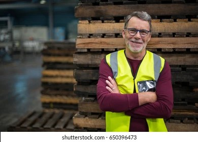 happy workers drink factory