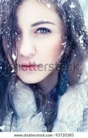 portrait pretty girls winter