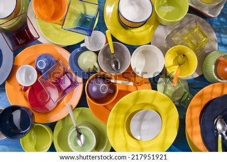 colorful kitchen accessories moen hands free faucet presentation mixed stock photo edit of for a