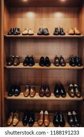 accessories shelves stylish stock photo