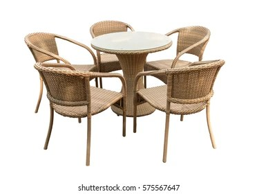 rattan table and chairs tub chair covers ebay wicker furniture images stock photos vectors shutterstock isolated on white