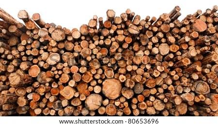 Debarking Cedar Logs