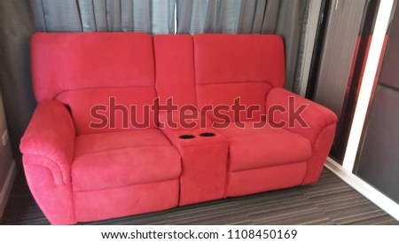 2 seat theater chairs swivel barrel red home seats stock photo edit now 1108450169 the for at