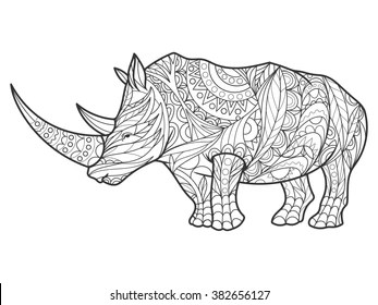 White Rhino Stock Illustrations, Images & Vectors