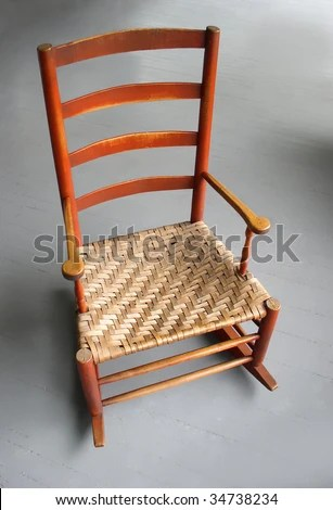 rocking chair antique styles best folding high shaker style rocker stock photo edit now with woven cane seat photographed against gray porch