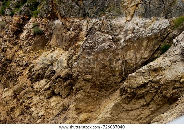 rocky mountain texture brown
