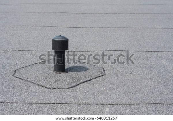 Roof Ventilation Aerator Flat Roof Ventilation Stock Photo