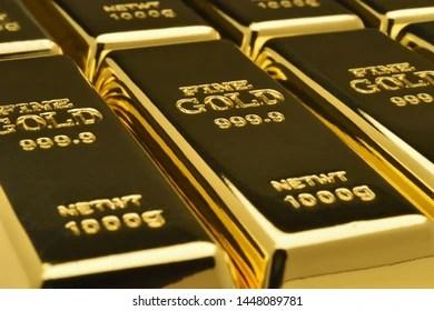 gold bullion images stock