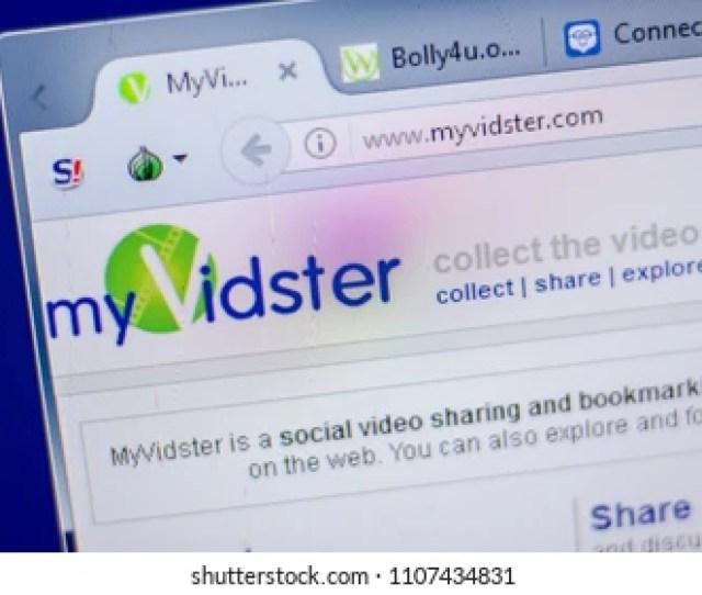 Ryazan Russia June 05 2018 Homepage Of Myvidster Website On The Display