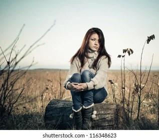 sad girl images stock