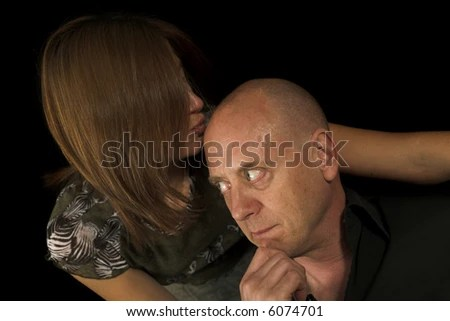 Sensual Couple Having Fun On Couch Over Black Backdrop