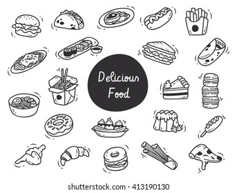 Breakfast Drawing Images, Stock Photos & Vectors
