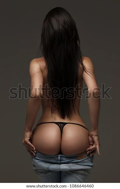 Photo De Femme Sexy : photo, femme, Corps, Femme, Jeans,, Photo, Stock, (modifiable), 1086646460