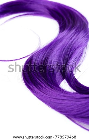 shiny purple dyed hair