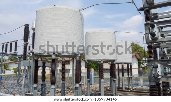 Shunt Reactor Capacitor Bank High Voltage Stock Photo Edit