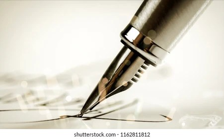 pen signature images stock