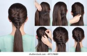 simple hairstyle stock
