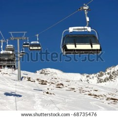 Buy Ski Lift Chair Dining Leather Chairs On Bright Winter Stock Photo Edit Now 68735476 Day