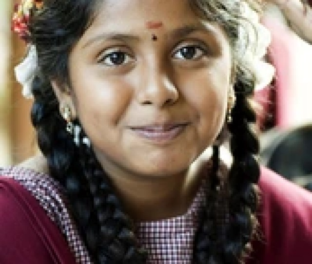 Smiling Indian Village School Girl Portrait