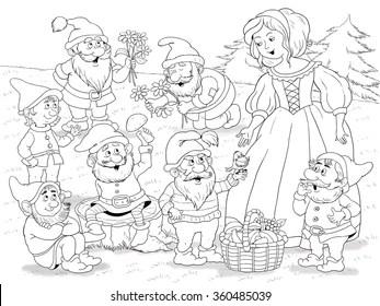 Snow White Cartoon Images, Stock Photos & Vectors