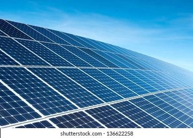 solar panels images stock