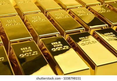 gold bar images stock